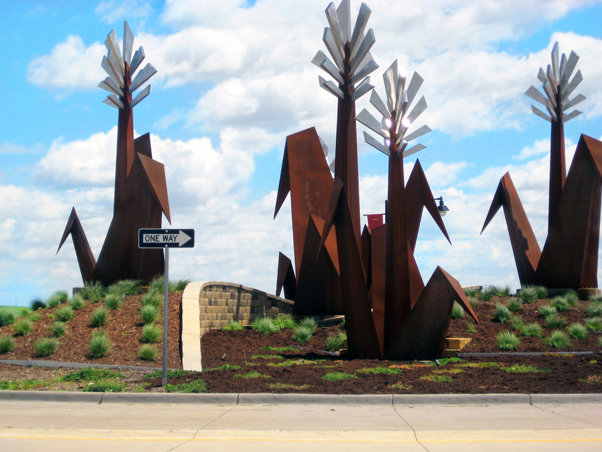MARION-Roundabout METAL SCULPTURE